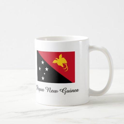 Diseño de la bandera de Papúa Nueva Guinea Taza