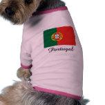 Diseño de la bandera de Portugal Ropa Para Mascota