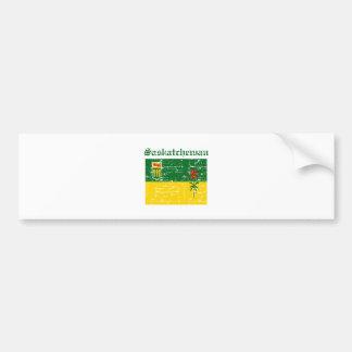 Diseño de la bandera de Saskatchewan Canadá Pegatina Para Auto