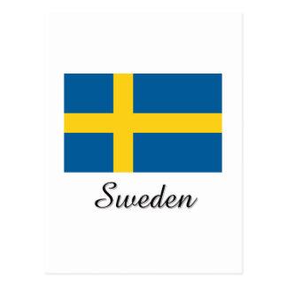 Diseño de la bandera de Suecia Postales