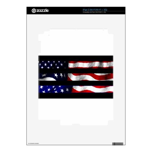 Diseño de la bandera de Vanwinkle iPad 2 Calcomanías