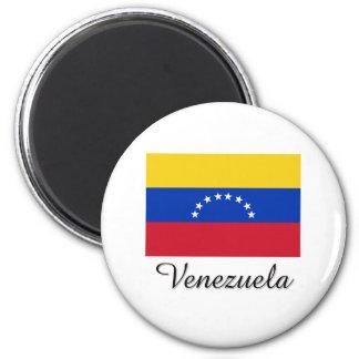 Diseño de la bandera de Venezuela Imán Redondo 5 Cm
