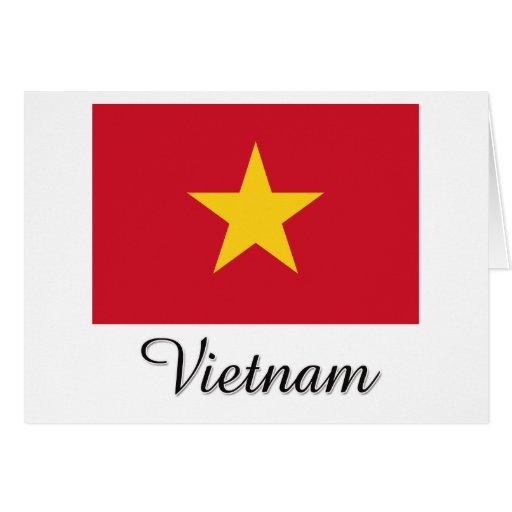 Diseño de la bandera de Vietnam Felicitaciones