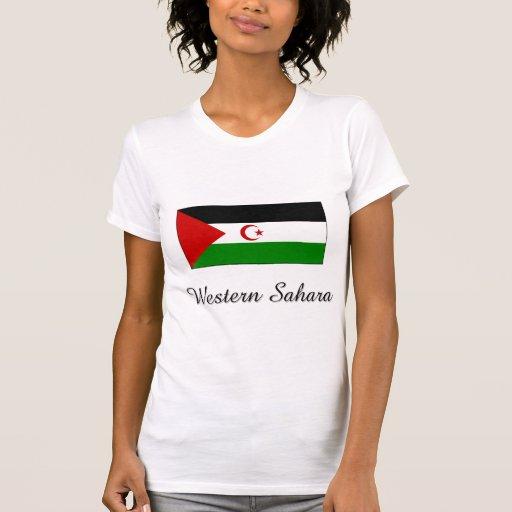 Diseño de la bandera de Western Sahara Camisetas
