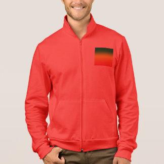 Diseño de la bandera del arco iris del reggae chaquetas deportivas imprimidas
