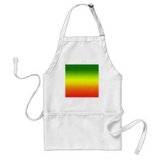 Diseño de la bandera del arco iris del reggae delantal