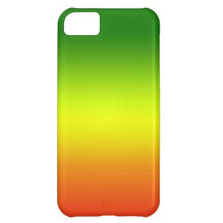 Diseño de la bandera del arco iris del reggae funda para iPhone 5C
