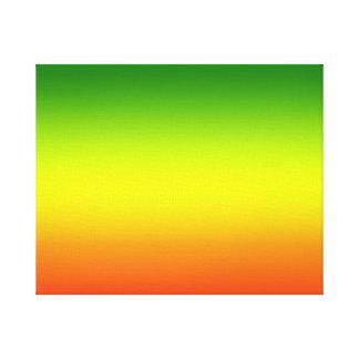 Diseño de la bandera del arco iris del reggae impresiones en lienzo estiradas