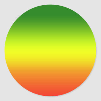 Diseño de la bandera del arco iris del reggae pegatina redonda