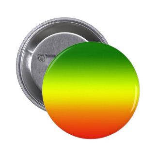 Diseño de la bandera del arco iris del reggae pin redondo de 2 pulgadas