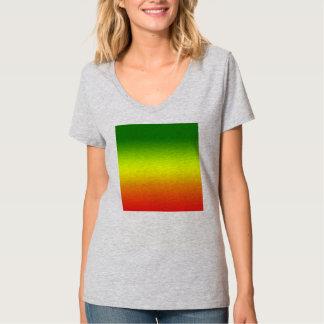 Diseño de la bandera del arco iris del reggae polera