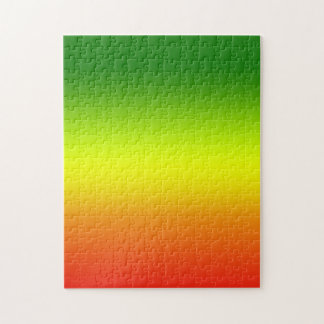 Diseño de la bandera del arco iris del reggae rompecabezas con fotos