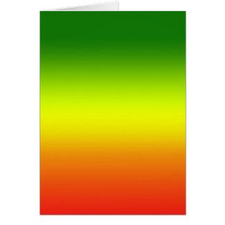 Diseño de la bandera del arco iris del reggae tarjeta de felicitación