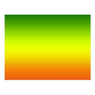 Diseño de la bandera del arco iris del reggae tarjetas postales