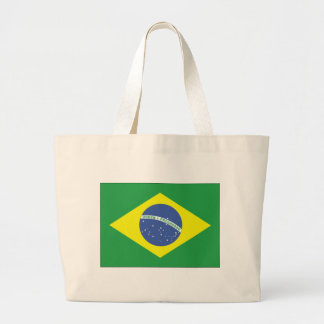 Diseño de la bandera del Brasil Bolsa Tela Grande