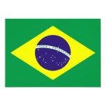 Diseño de la bandera del Brasil Invitación 12,7 X 17,8 Cm