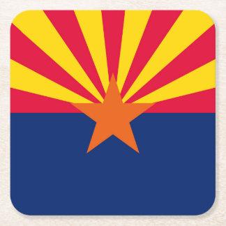 Diseño de la bandera del estado de Arizona Posavasos Desechable Cuadrado