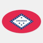 Diseño de la bandera del estado de Arkansas Pegatina Ovalada