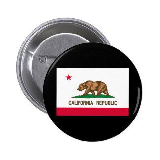 Diseño de la bandera del estado de California Pin Redondo De 2 Pulgadas
