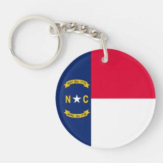 Diseño de la bandera del estado de Carolina del Llavero Redondo Acrílico A Doble Cara