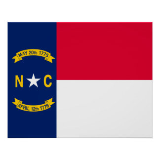Diseño de la bandera del estado de Carolina del Póster