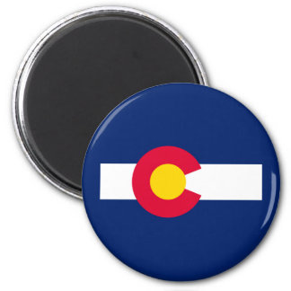 Diseño de la bandera del estado de Colorado Imán Redondo 5 Cm