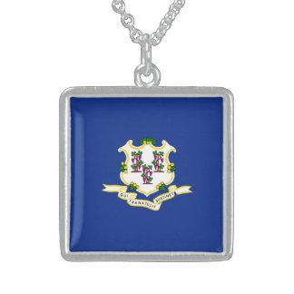 Diseño de la bandera del estado de Connecticut Colgante Cuadrado