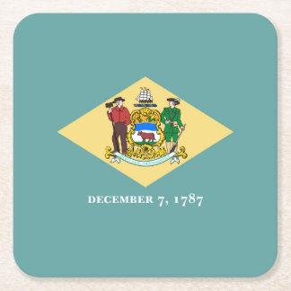 Diseño de la bandera del estado de Delaware Posavaso Cuadrado De Cartón
