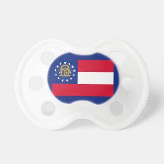 Diseño de la bandera del estado de Georgia Chupetes Para Bebés