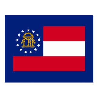 Diseño de la bandera del estado de Georgia Tarjetas Postales