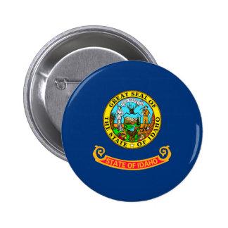 Diseño de la bandera del estado de Idaho Pin Redondo De 2 Pulgadas