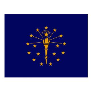 Diseño de la bandera del estado de Indiana Postales