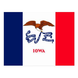 Diseño de la bandera del estado de Iowa Postal