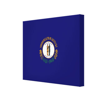 Diseño de la bandera del estado de Kentucky Impresión En Lienzo