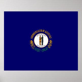 Diseño de la bandera del estado de Kentucky Póster