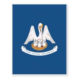 Diseño de la bandera del estado de Luisiana Tatuajes Temporales
