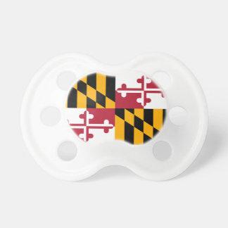 Diseño de la bandera del estado de Maryland Chupete De Bebé