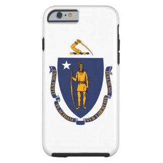 Diseño de la bandera del estado de Massachusetts Funda Para iPhone 6 Tough