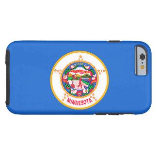 Diseño de la bandera del estado de Minnesota Funda Para iPhone 6 Tough