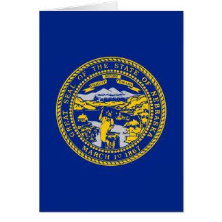 Diseño de la bandera del estado de Nebraska Tarjeta De Felicitación