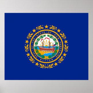 Diseño de la bandera del estado de New Hampshire Póster