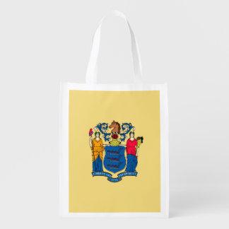 Diseño de la bandera del estado de New Jersey Bolsas Para La Compra