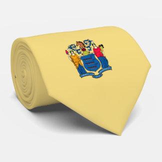Diseño de la bandera del estado de New Jersey Corbatas Personalizadas