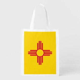 Diseño de la bandera del estado de New México Bolsa Reutilizable