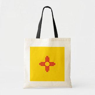 Diseño de la bandera del estado de New México Bolsa Tela Barata
