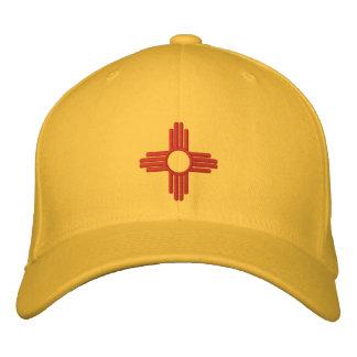 Diseño de la bandera del estado de New México Gorra De Béisbol Bordada