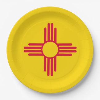 Diseño de la bandera del estado de New México Platos De Papel