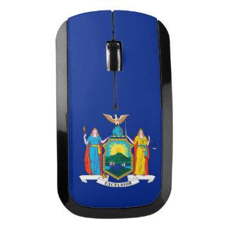 Diseño de la bandera del Estado de Nuevo York a ir Ratón Inalámbrico