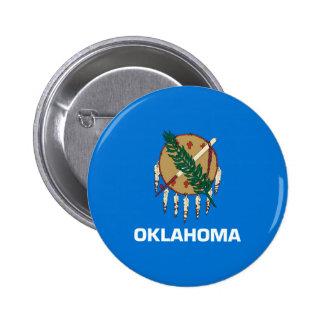 Diseño de la bandera del estado de Oklahoma Pin Redondo 5 Cm