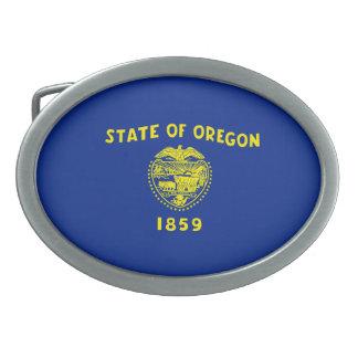 Diseño de la bandera del estado de Oregon Hebillas De Cinturón Ovales